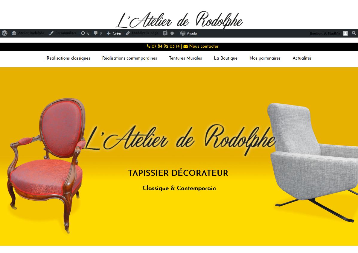 Mise en ligne - L'atelier de Rodolphe - Tapissier décorateur