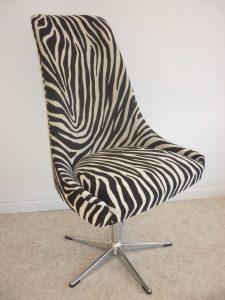 chaise tissu Zébre